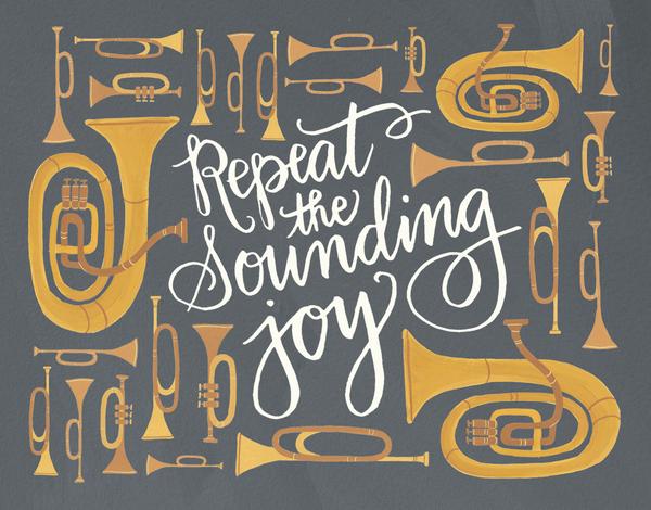 Sounding Joy Horns Holiday Card