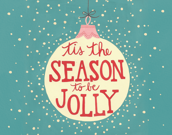 cheerful christmas ornament tis the season Card