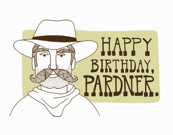 Charming Cowboy Birthday Card