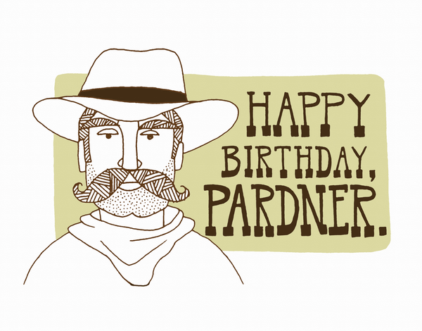 Charming Cowboy Birthday Card