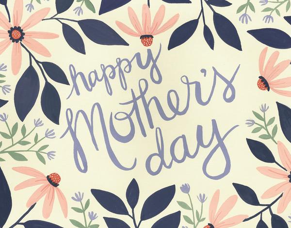 Gerber Daisy Mother's Day Card