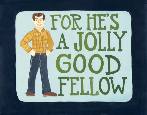 Jolly Good Fellow Card