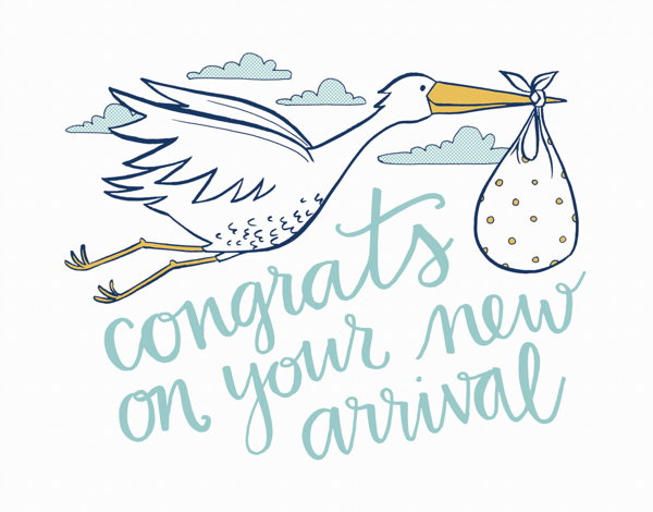 Stork New Arrival Baby Congrats