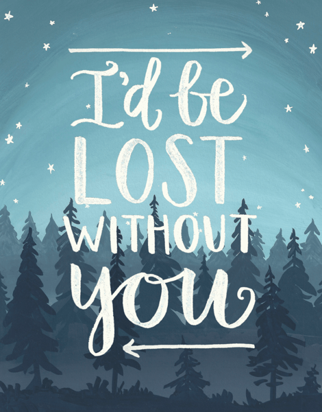 Lost Without You Love Card