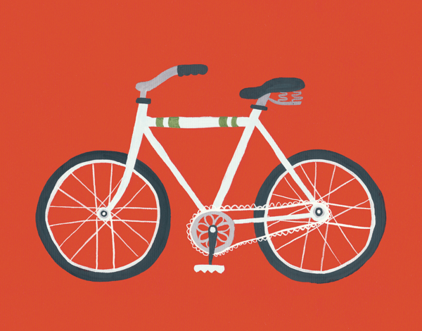 Painted Red Bike Everyday Card
