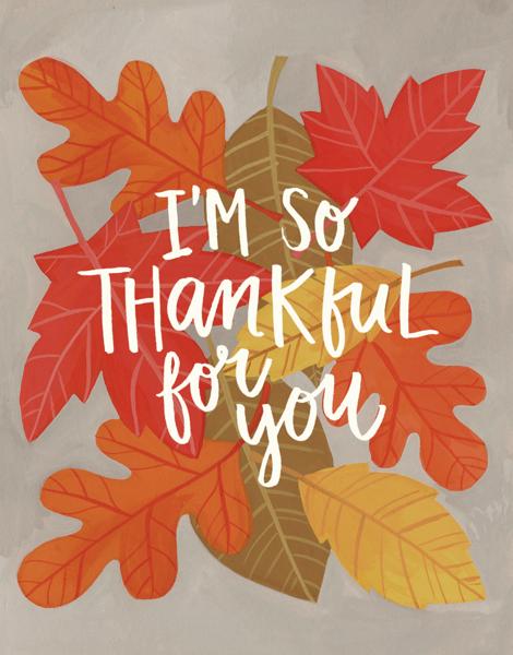 Autumn leaves Thanksgiving Card