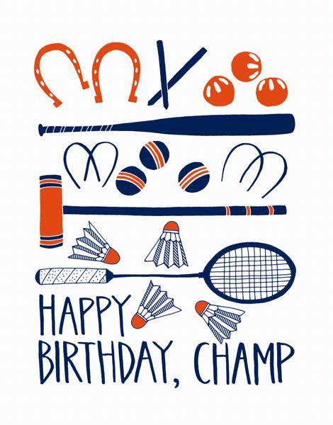 Lawn Sports Birthday Card