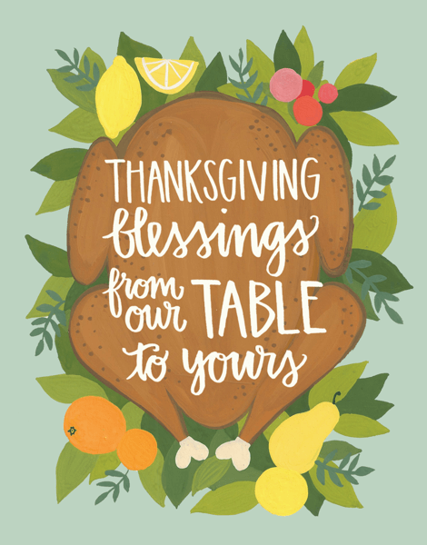 Rustic Blessings Thanksgiving Card