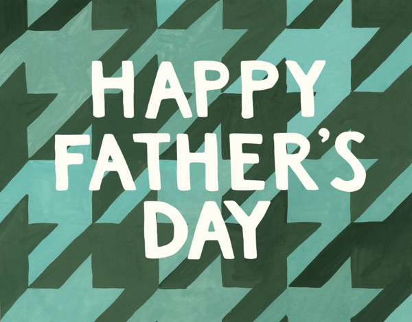 Houndstooth Blue Fathers Day Card