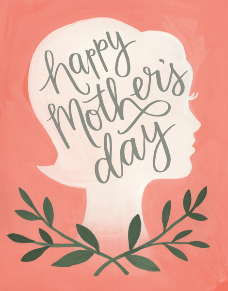 Silhoutte Mothers Day Card