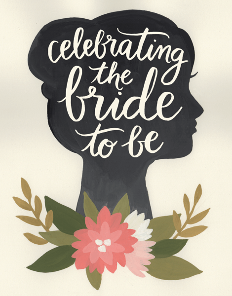 Silhouette Bride to Be Card