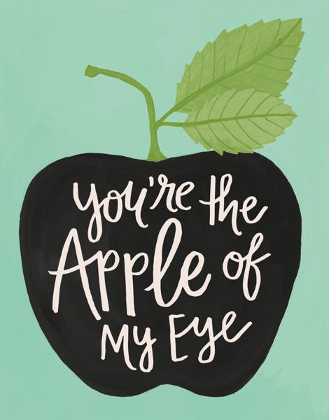 Flourish Apple of My Eye Love Card