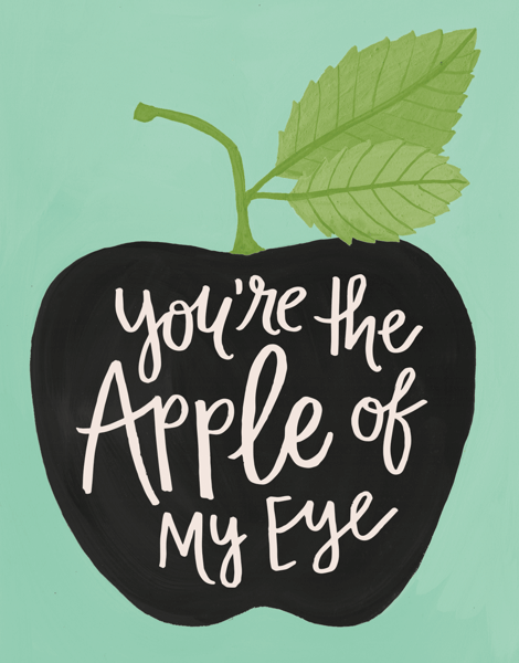 Flourish Apple of My Eye Love Card
