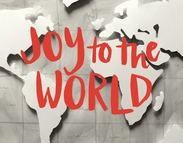 Vintage Joy to the World Holiday Card