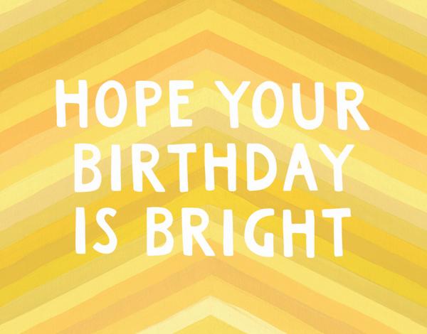 Bright Birthday