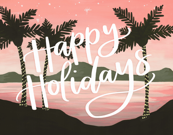 Holiday Palm Trees