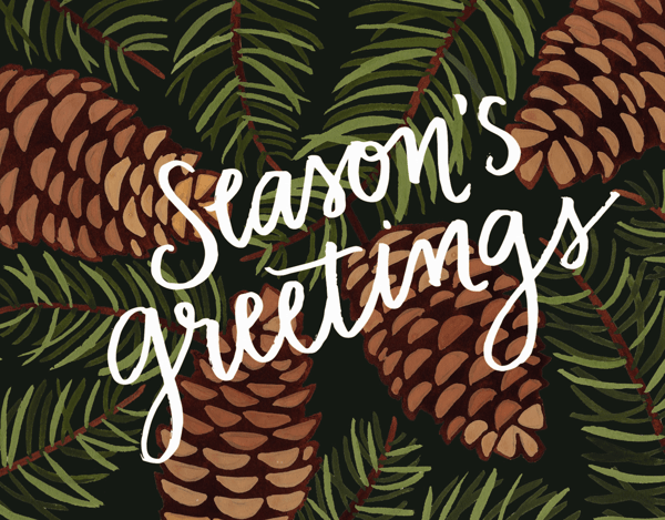 Pinecone Season's Greetings