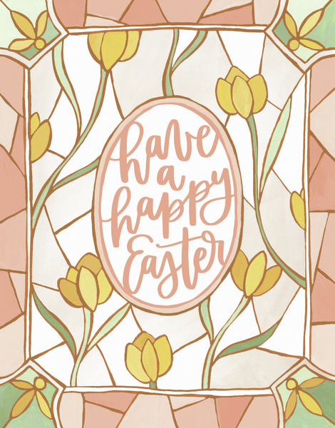 Easter Stained Glass