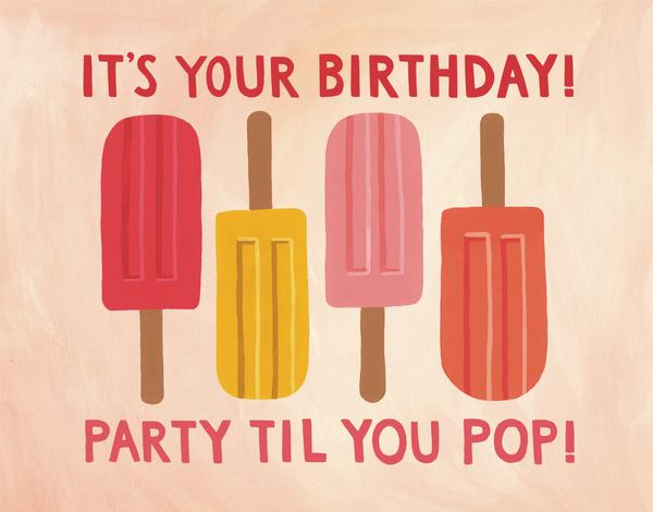 Birthday Popsicles