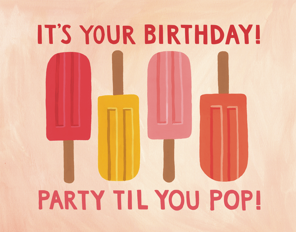 Birthday Popsicles