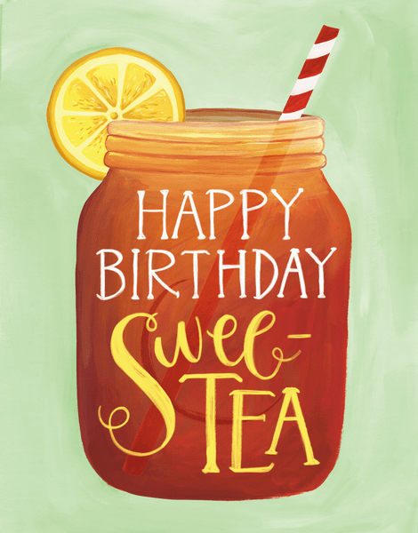 Birthday Sweet Tea