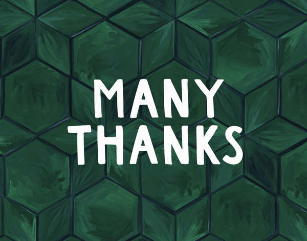 Thank You Green Tile