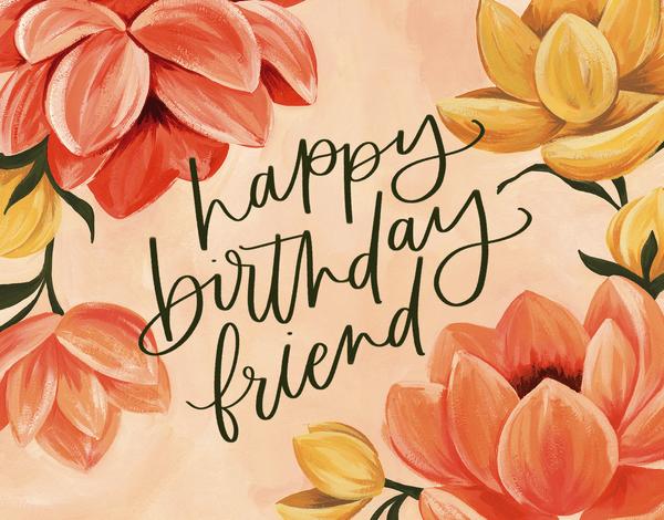 Happy Birthday Friend