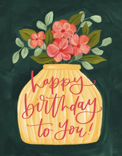 Birthday Vase