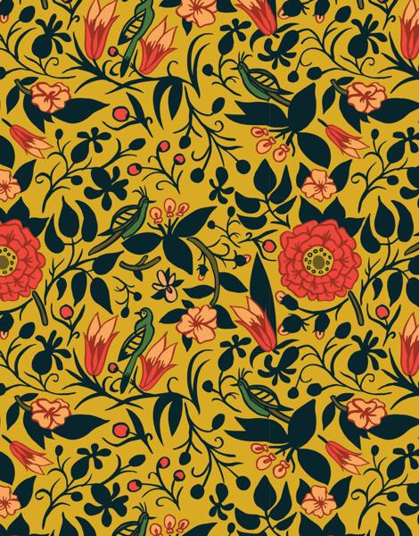 Gold Floral