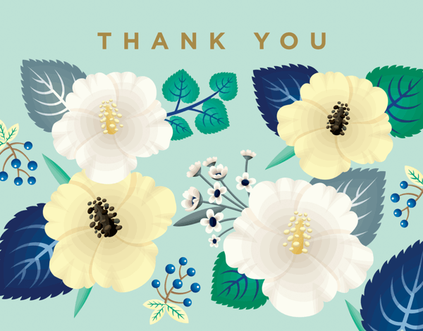 Wildflowers Thank You Card