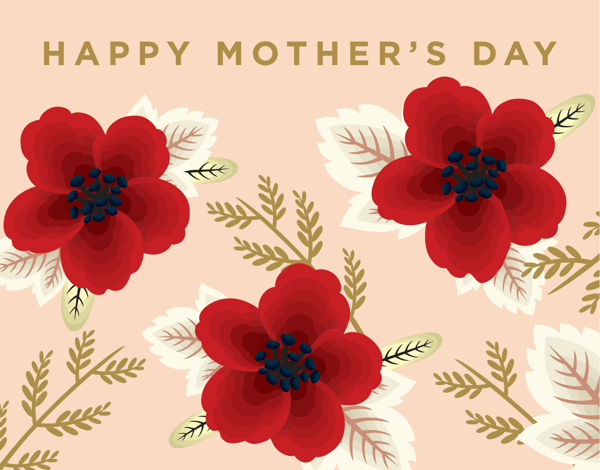 Classic Wildflowers Mothers Day Card
