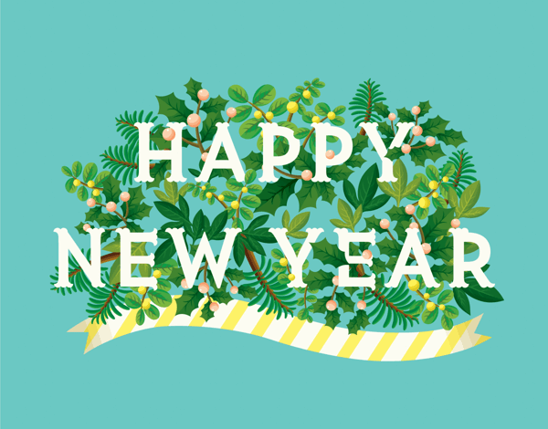 Colorful Happy New Year Card