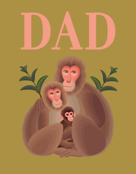Monkey Father's Day Card