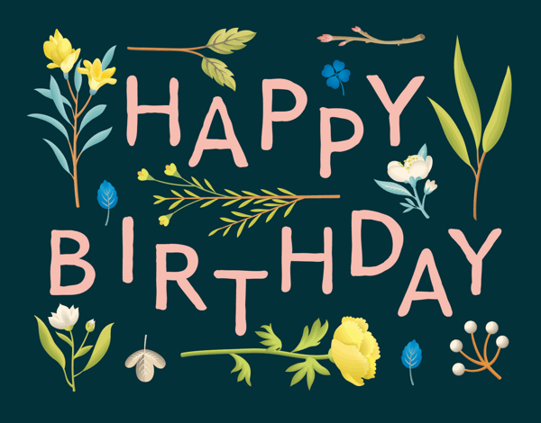 Botanical Happy Birthday
