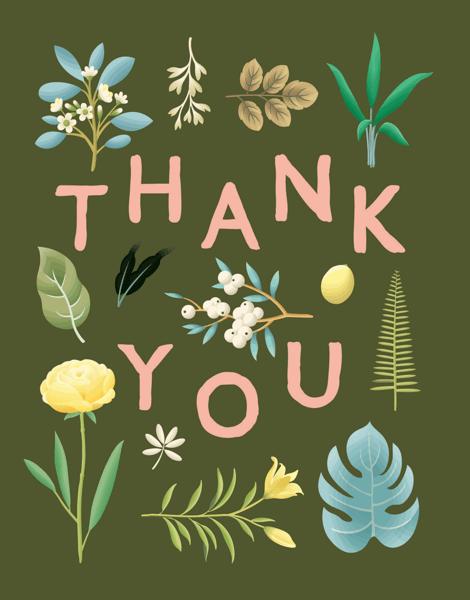 Botanical Thank You