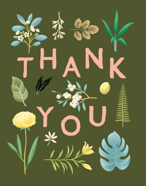 Botanical Thank You