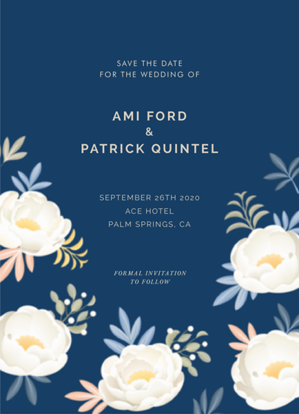 Lovely Floral Save The Date
