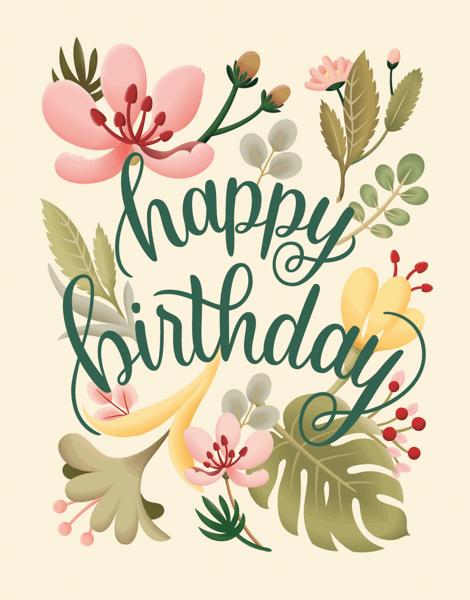 Botanical Birthday