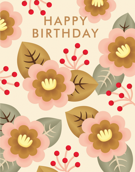 Delightful Flower Birthday