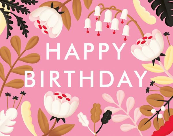 Pink Flower Birthday