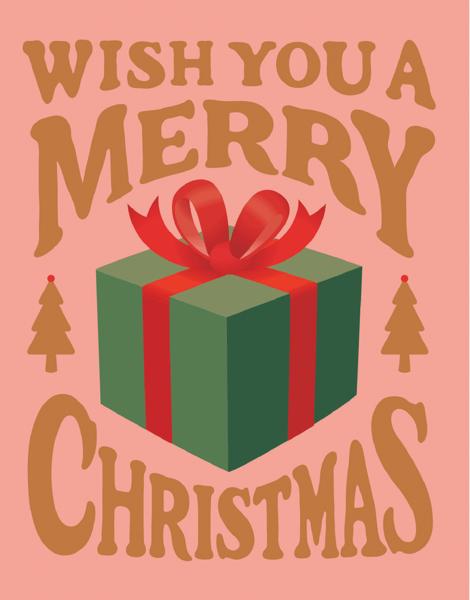 Pink Merry Christmas