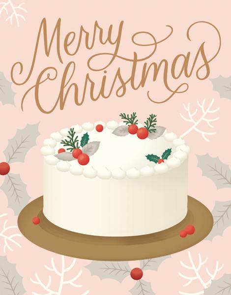 White Christmas Cake