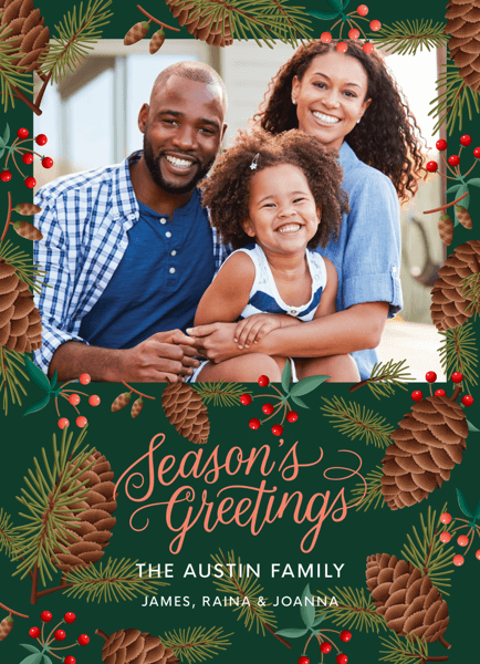 Season's Greetings Pinecones