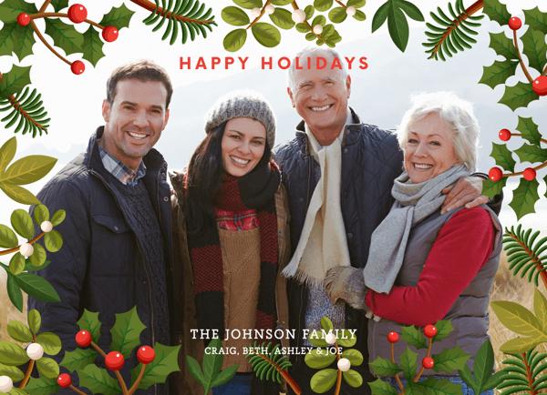 holly-christmas-frame-photo-card