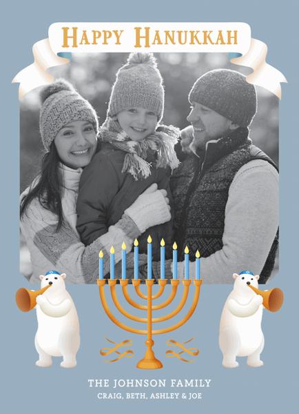 Festive Hanukkah Bears
