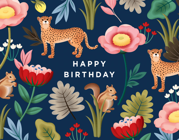 Navy Jungle Birthday