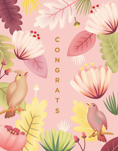 Tropical Bird Congrats