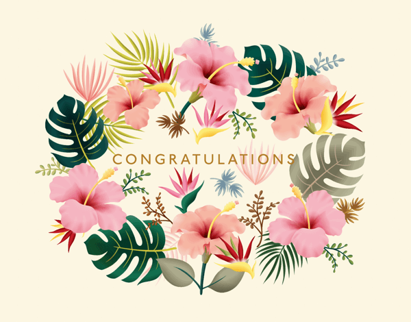 Tropical Congratulations
