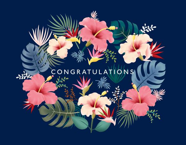 Tropical Wreath Congrats