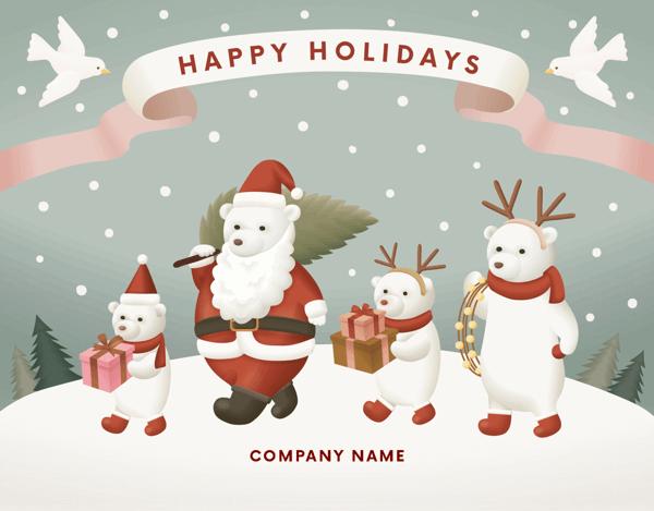 Holiday Bear Family